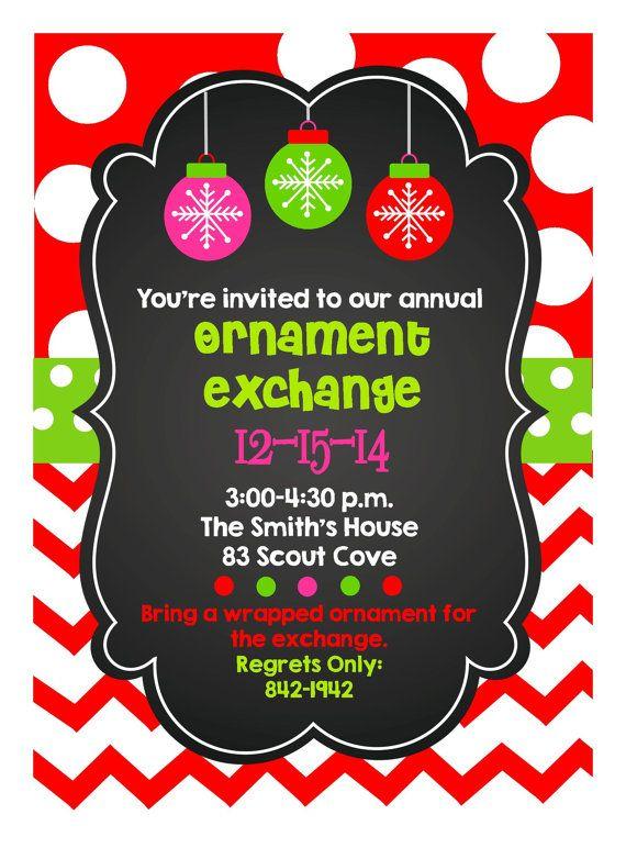 Christmas Party Printable Digital Invitation- Printable, DIY