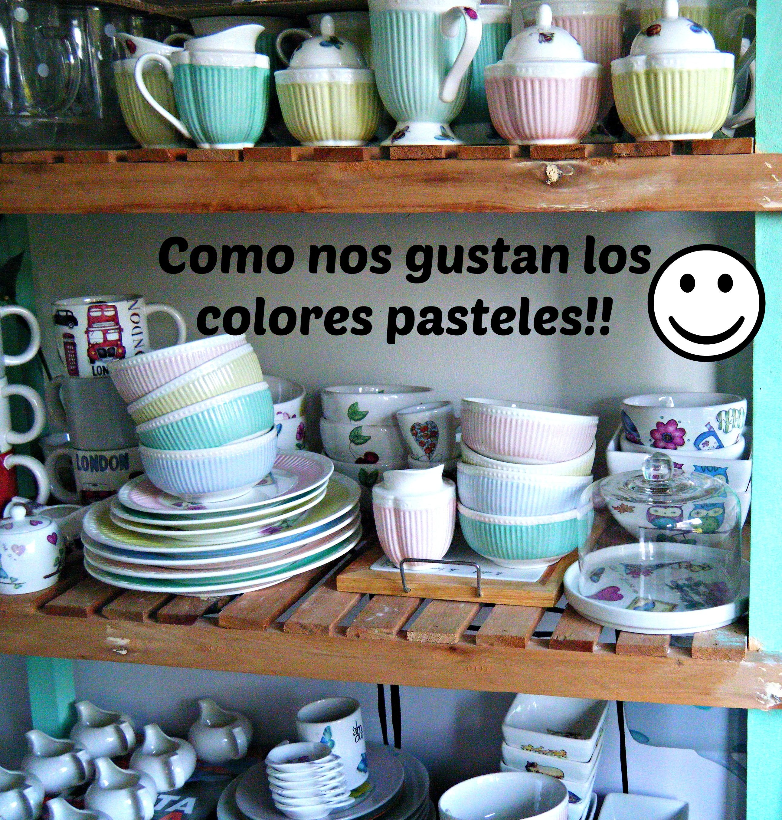 Nos encantan los colores pasteles!!  Art Home Designs / Art Home Market / What a wonderful home / Vajilla divertida