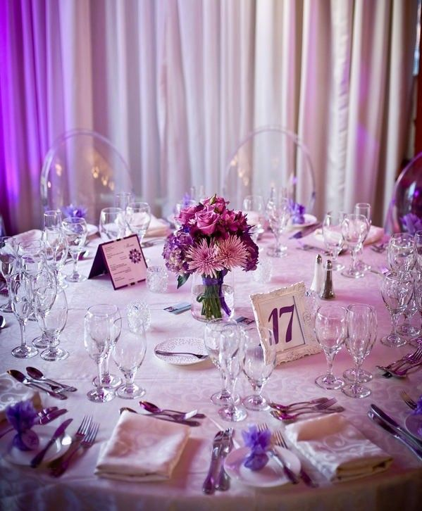 decoration de mariage violette mariage original d co