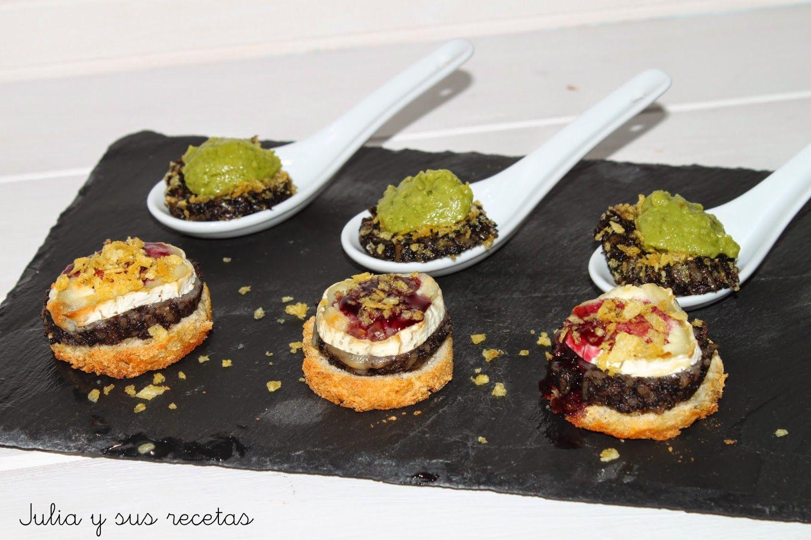 Julia y sus recetas cucharillas y montaditos de morcilla - Cenas sin cocinar ...