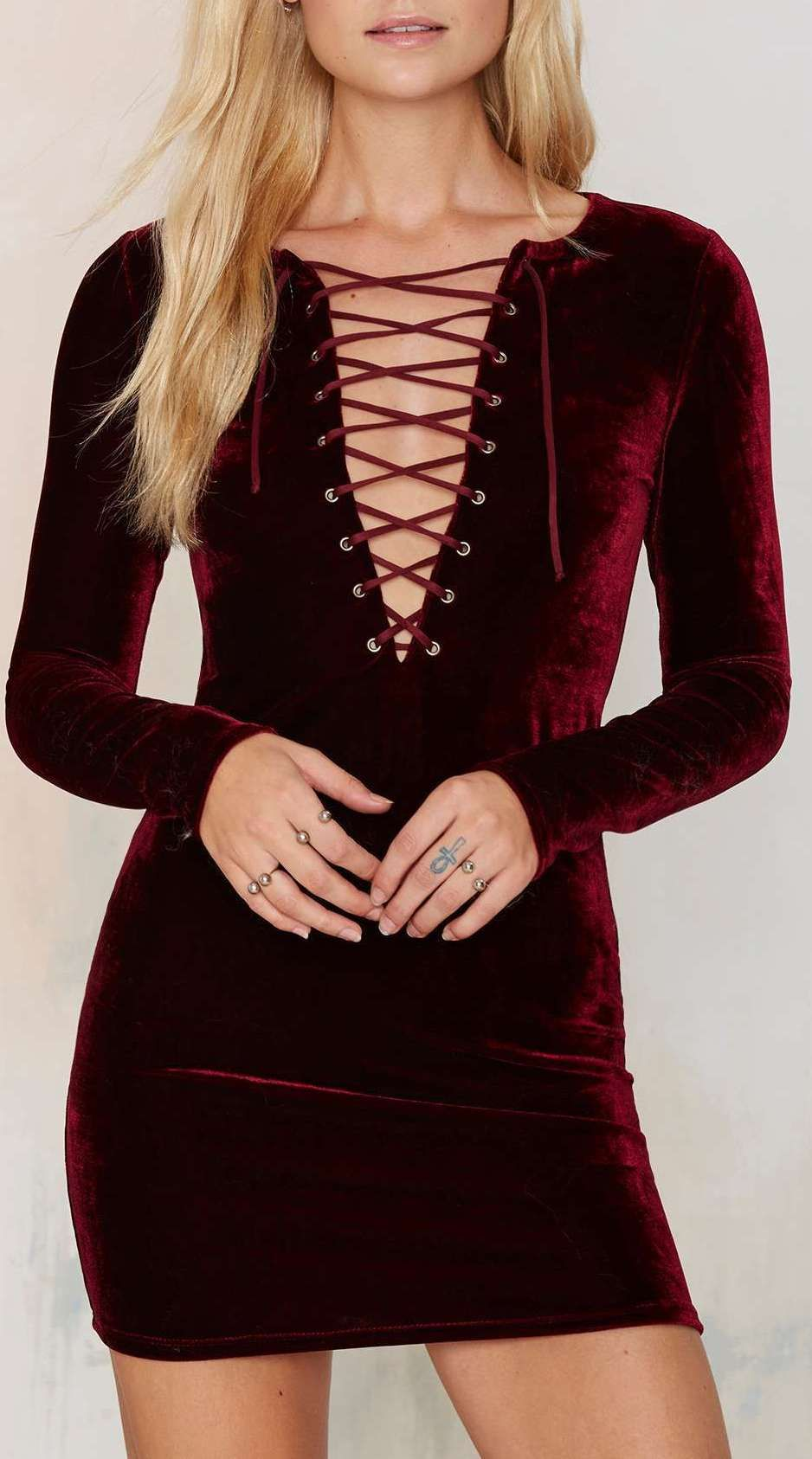 Cities in dust velvet lace up dress burgundy clothes horse