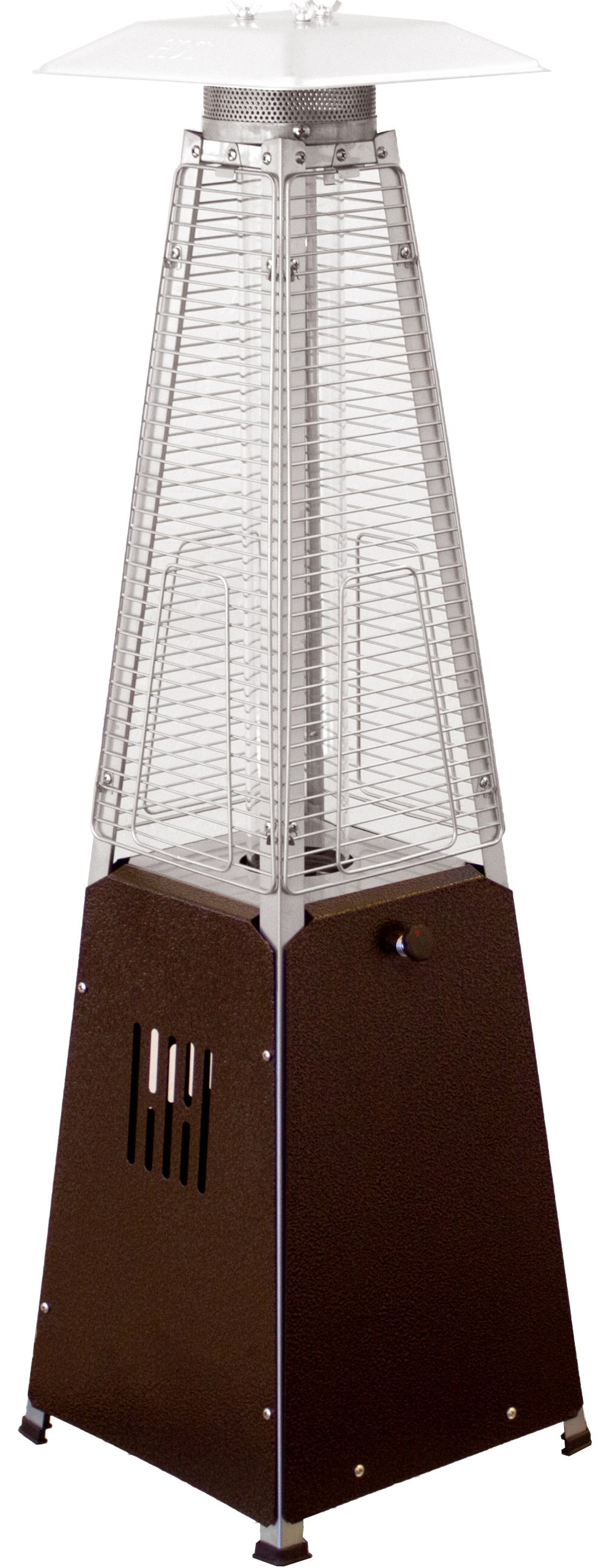 Arizona Patio Heaters Table Top Patio Heater In Bronze With Glass Tube  HLDS032 GTTHG