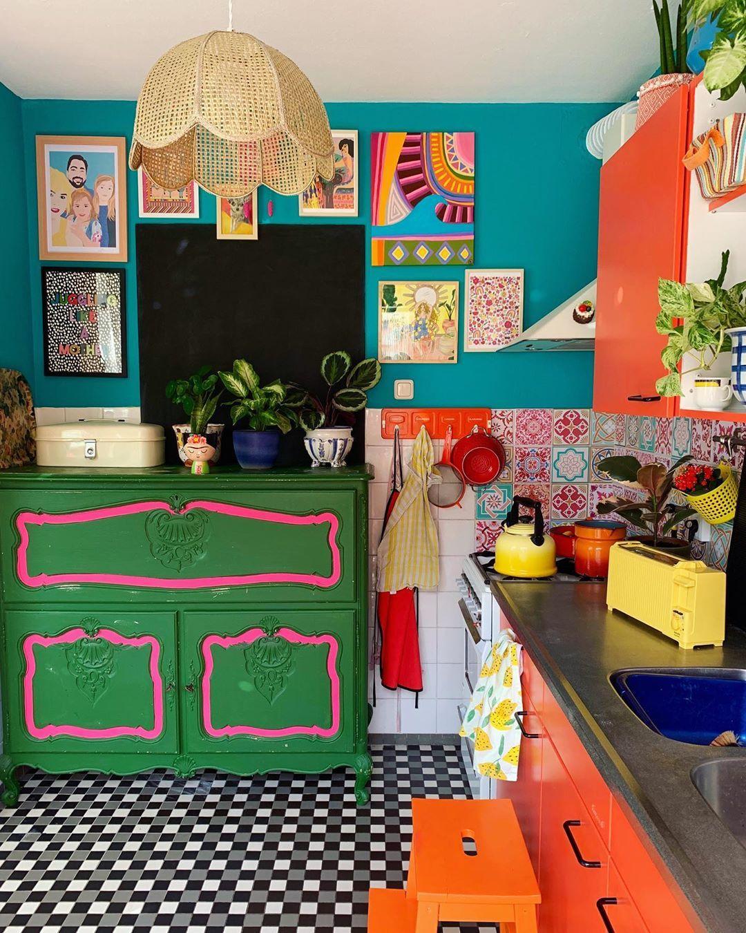 fabulous colourful kitchen in 2020 decor bright furniture hippie home decor on kitchen decor hippie id=35008