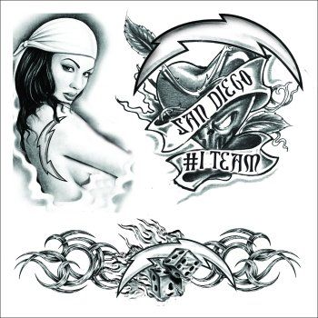 d651df1b71522 San Diego Chargers Temporary Tattoo. Show your San Diego pride with these  awesome old school Charger temporary tattoos. This temporary tattoo set  features ...