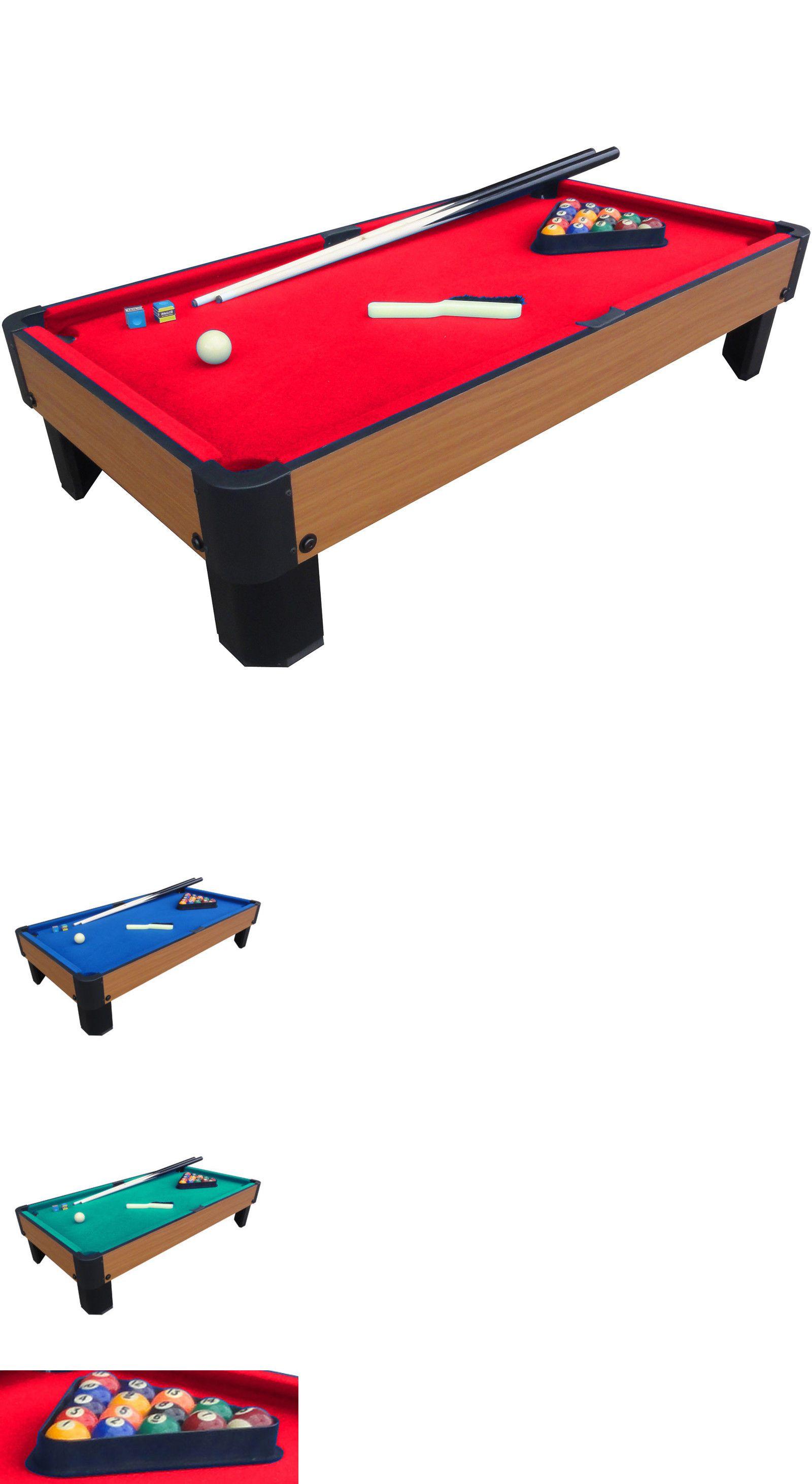 Tables 21213: Playcraft Sport Bank Shot 40 Mini Pool Billiard Table Top Red  Cloth Cues