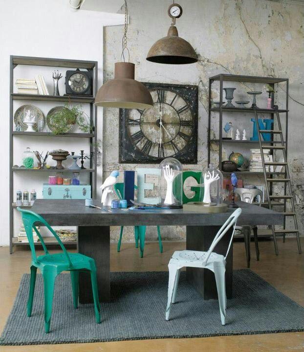 Industrial - Maison du Monde touche de déco Pinterest Interiors
