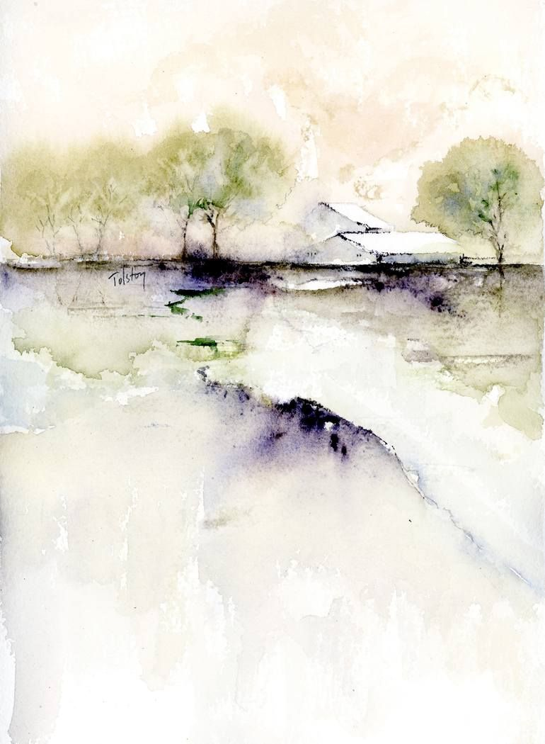 Buy Unwinding A Watercolor Painting On Paper By Alex Tolstoy