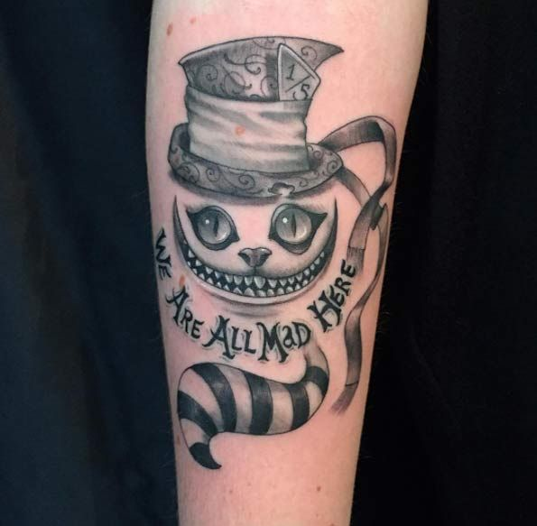 100 Best Alice In Wonderland Tattoos Tattooblend Tatuajes De Moda Tatuajes Chiquitos Tatuaje Del Gato Cheshire