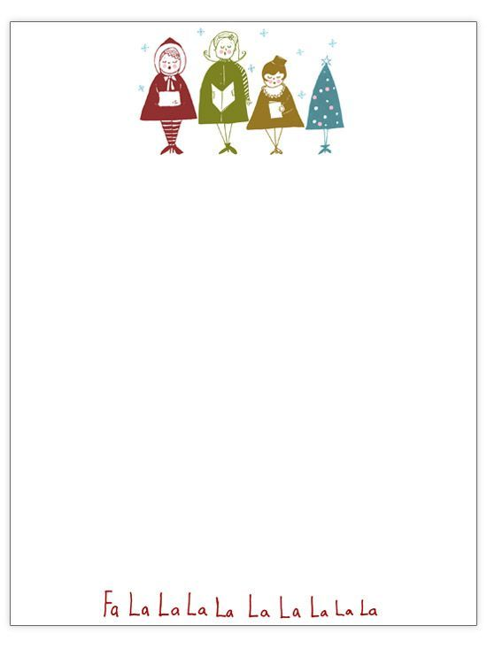 Christmas Stationary Template Printable Stationary Card Stationery