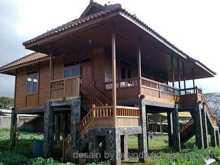 desain rumah kayu minimalis wooden house pinterest