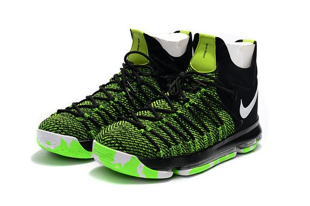 Sale New KD 9 IX Elite 2017 NBA Playoffs Ghost Green Voltage Green Black  Kevin Durant