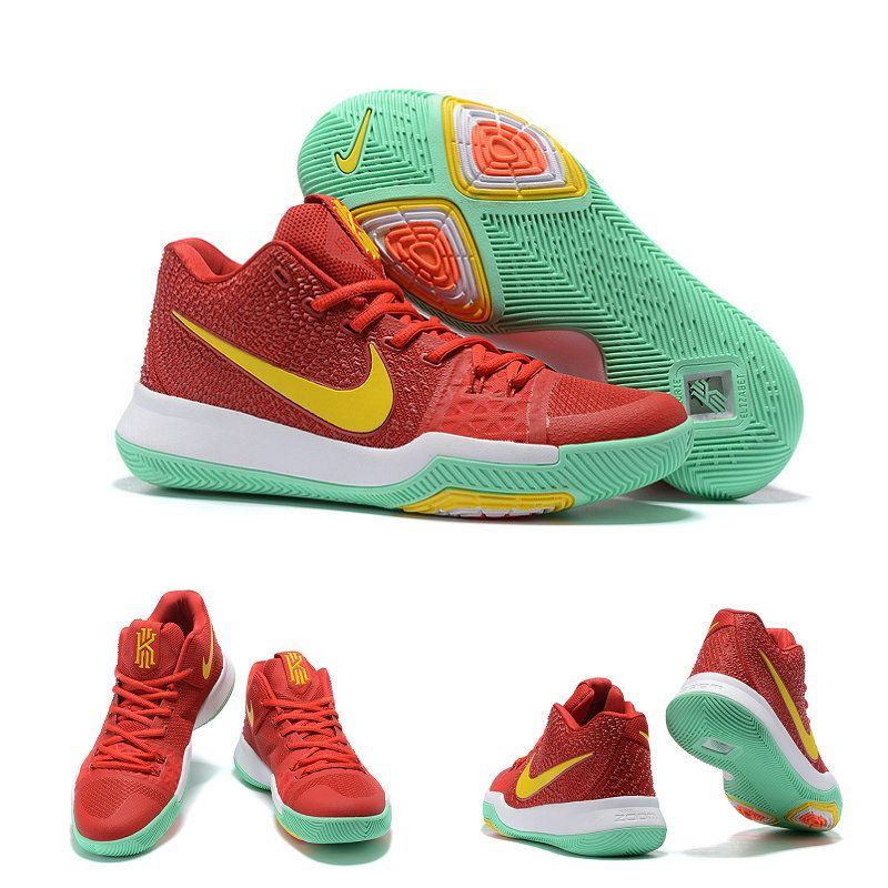Cheap Real Kyrie 3 Mint Green White Yellow