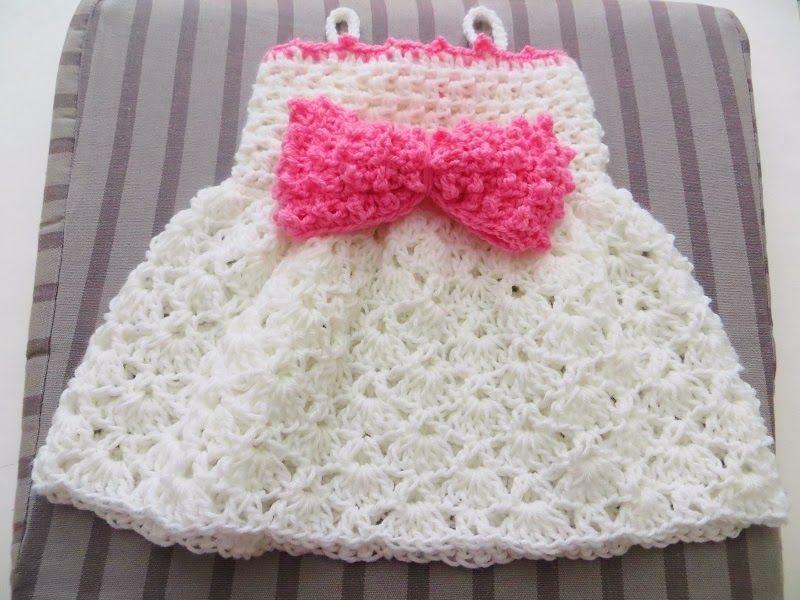 Fine Crochet Newborn Dress Pattern Embellishment - Blanket Knitting ...