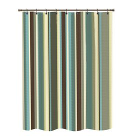 Superb Polyester Multicolor Striped Shower Curtain @ Loweu0027s