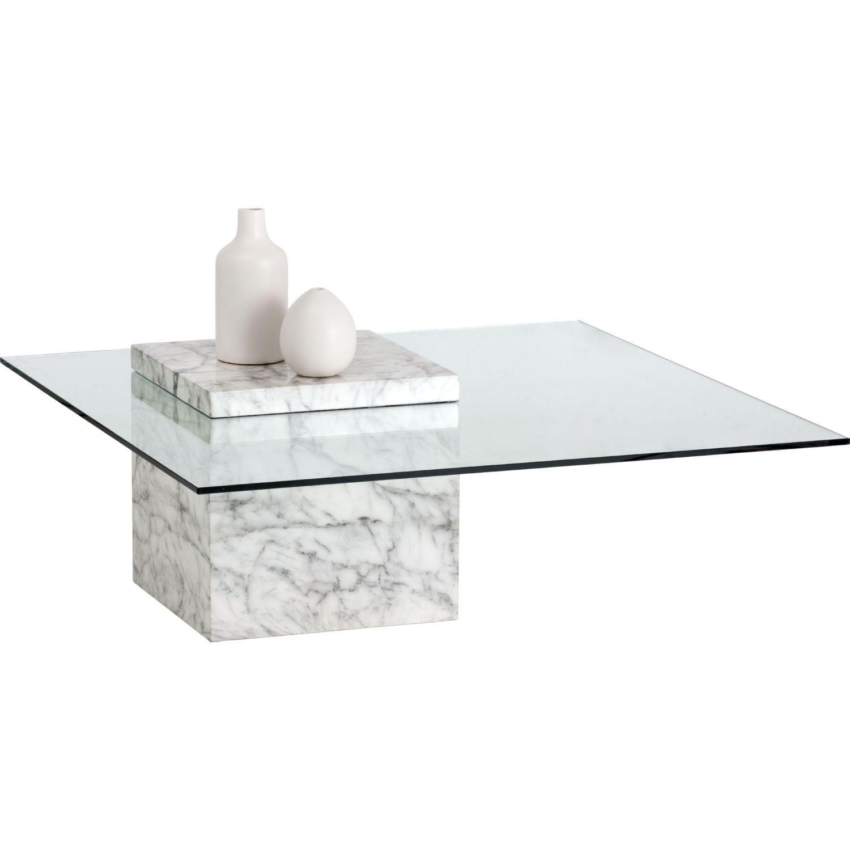 Sunpan Gail Coffee Table White Marble