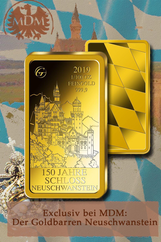 Neuschwanstein Auf Gold Schloss Neuschwanstein Neuschwanstein Goldbarren
