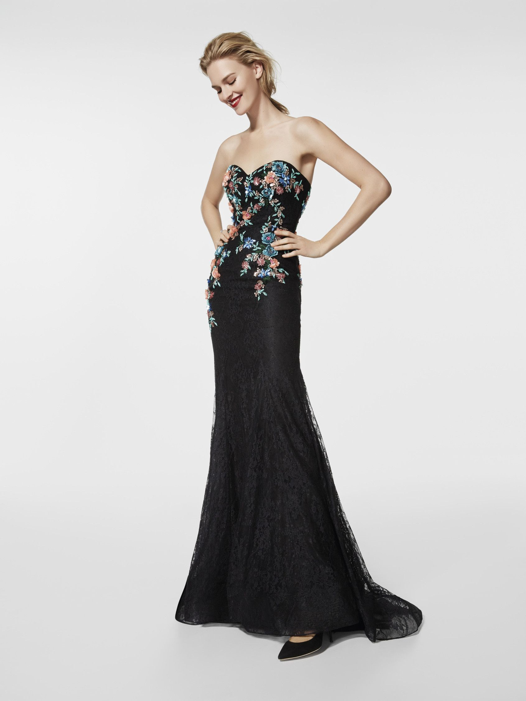 Black cocktail dress - Long dress GRASE - sleeveless | Pronovias ...