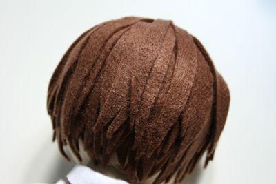 Amigurumi Hair Tutorial : Felt hair tutorial amigurumi tutorial step by step doll making