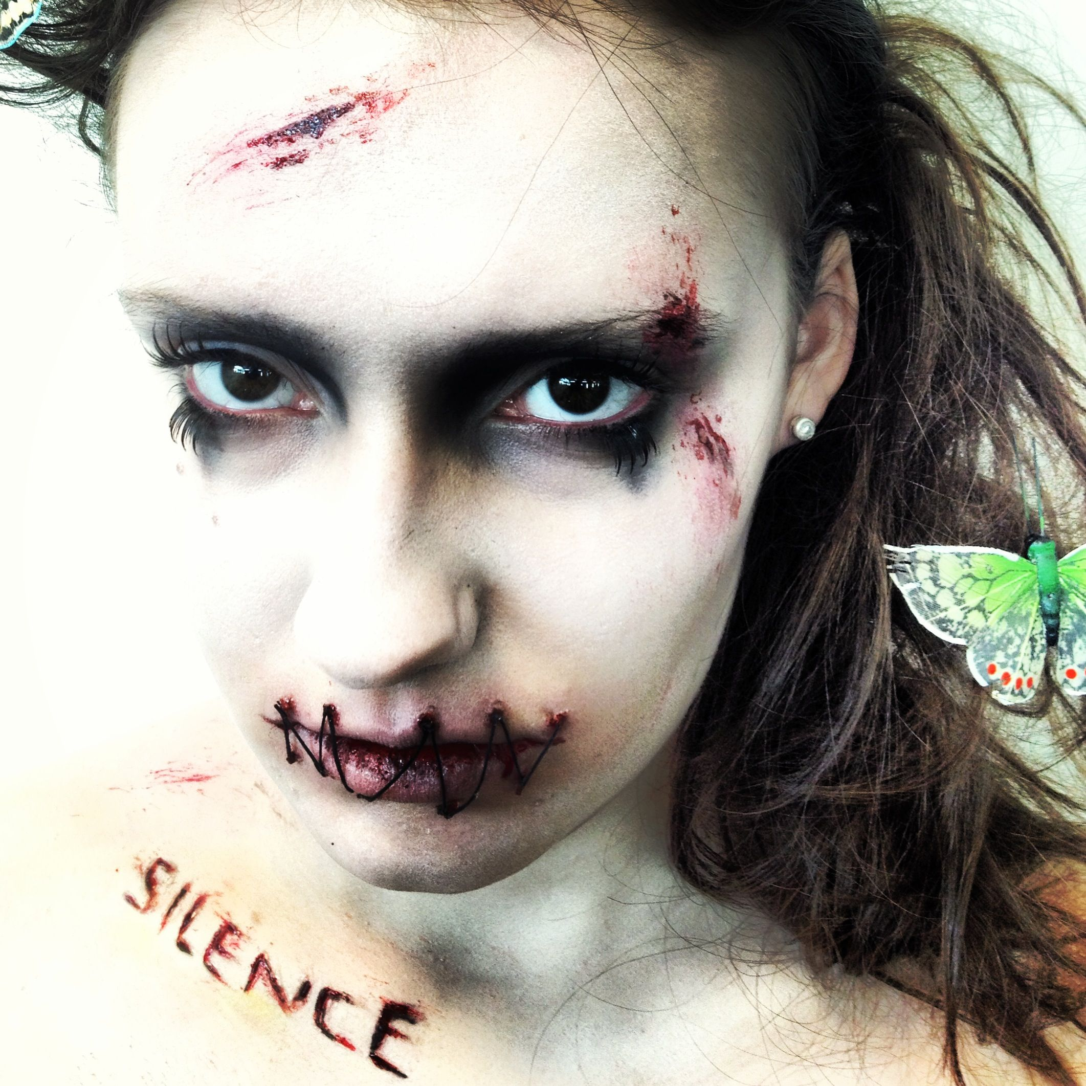 Horror Make-Up Work, Silence of the Lambs Stitched Lips. Make-Up ...