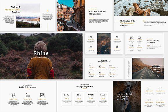 Rhine Creative Powerpoint Template Presentations Pinterest