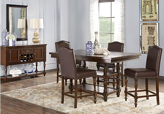 Affordable Counter Height Dining Room Sets  Rooms To Go Furniture Stunning Dark Cherry Dining Room Set Inspiration