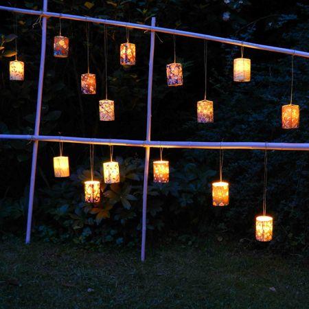 Paravent lumineux pour jardin et maison | Décor de fête : Bougies ...