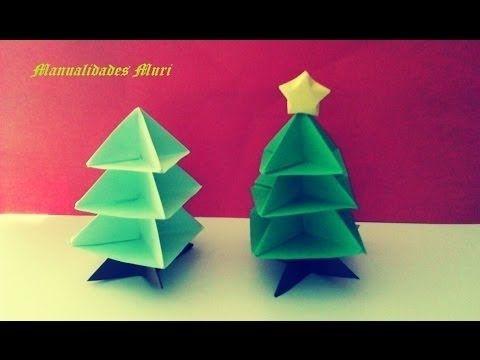 Origami papiroflexia rbol de navidad christmas tree - Arbol de navidad origami ...