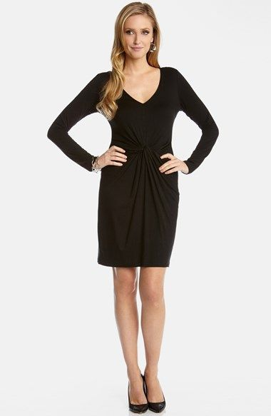 9cf4bfdd286e Karen Kane Black  Tiffany  Twist Front LBD Sexy BodyCon Dress ...