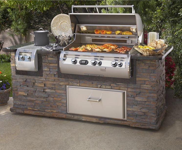 Cucine Da Esterno Con Barbecue : Barbecue da giardino giardini pinterest cucine barbecue e