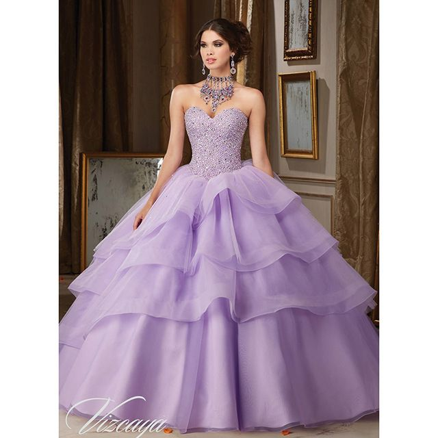Style 89111 light purple quinceanera dresses with beadings for Light purple dresses for weddings