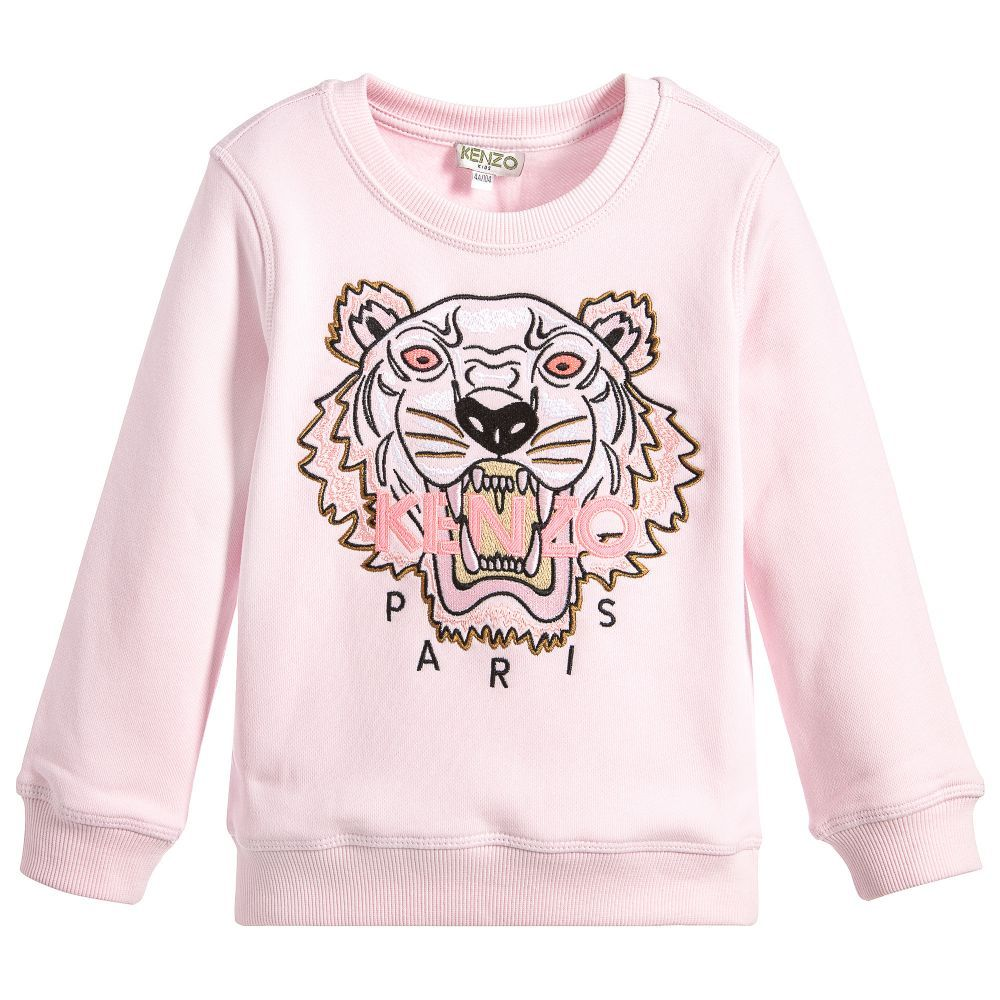 de55e9aa Girls Pink Tiger Sweatshirt | LC Girl Clothing and Gifts | Kenzo ...
