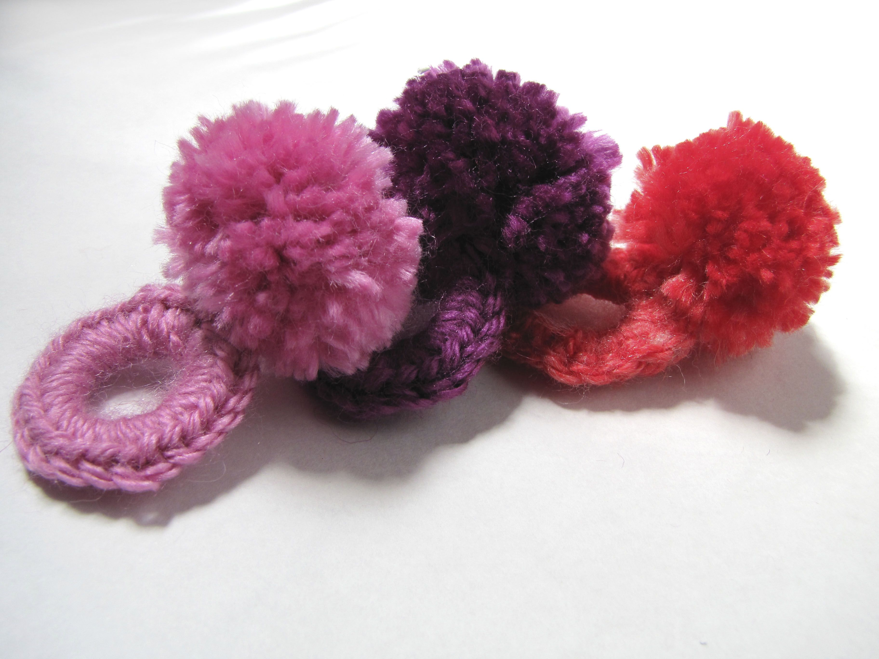 Colitas de pelo pompon | *I love C R O C H E T * Learn | Pinterest