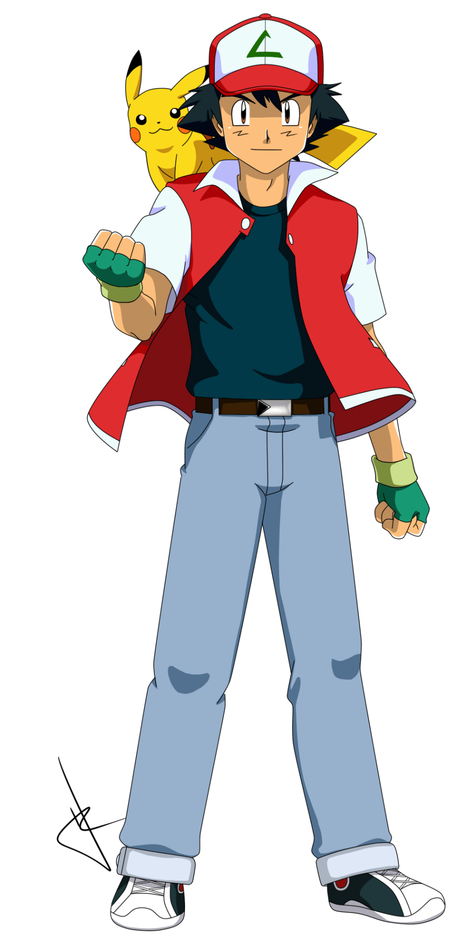 Hollylu Pokeship Art Commissioned By Mezasepkmnmaster Request 16 Year Old Ash Ketchum For His Fanfic S Pokemon Ash And Serena Pokemon Pictures Ash Ketchum