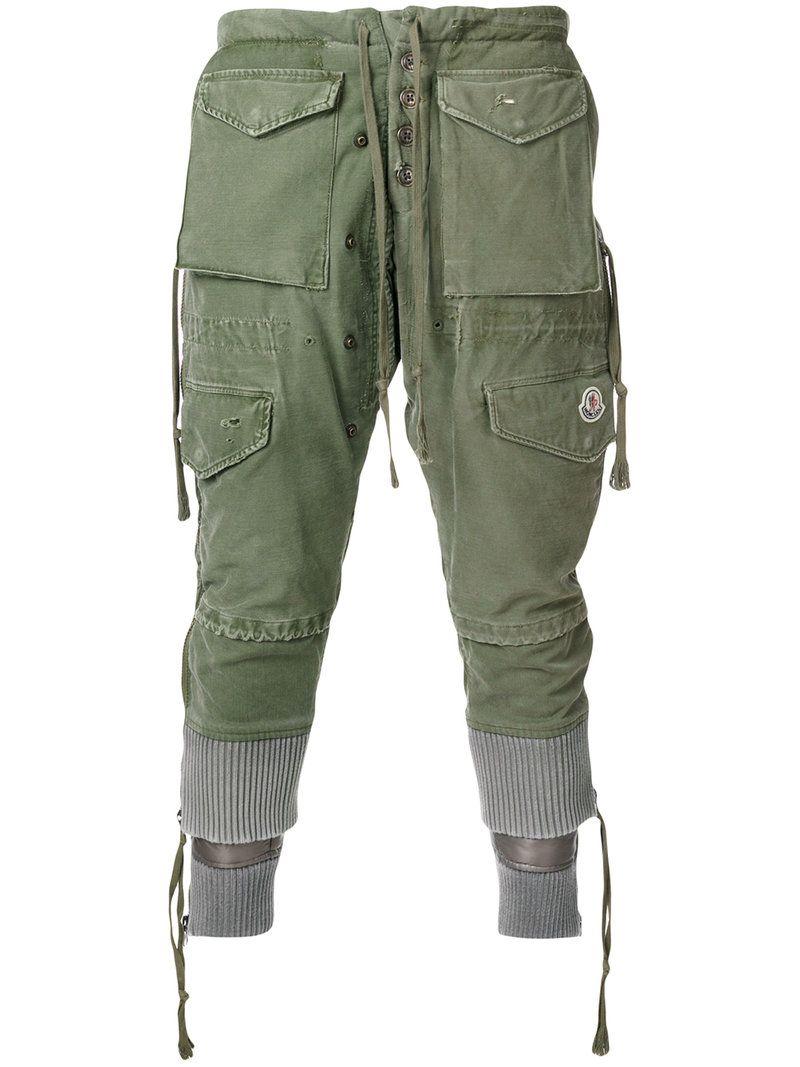 Moncler Pantalones Cropped Hombre