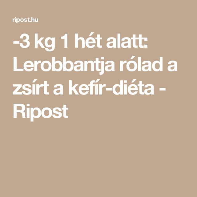 diéta 2 kiló 3 nap alatte