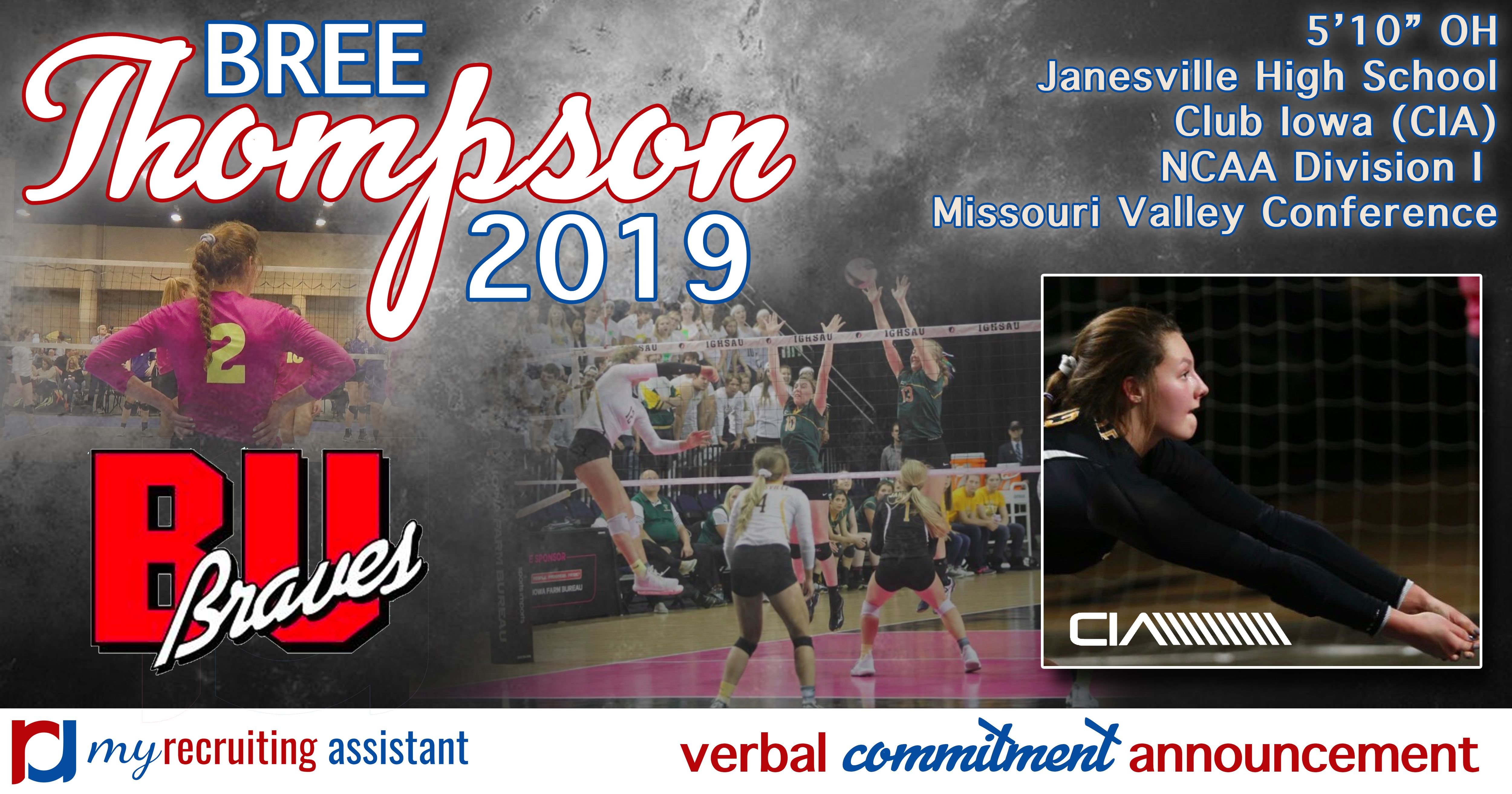 Class Of 2019 Ncaa Division I Bradley University Volleyball Commit Bradley University Missouri Valley Recruitment