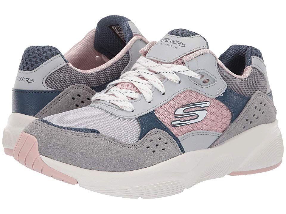 SKECHERS WOMENS MERIDIAN Sneaker Grey Pink Shoes 2019 **Free