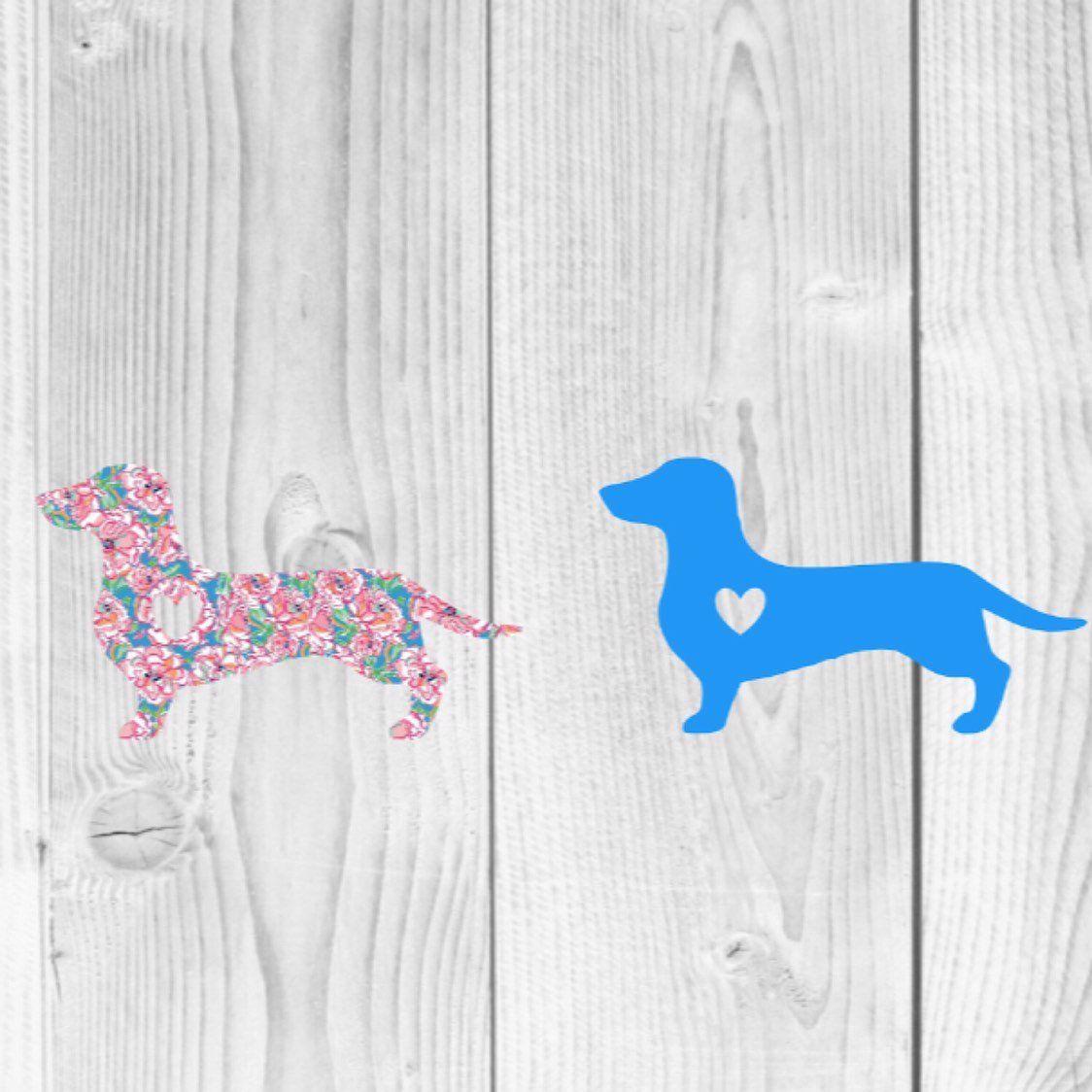 Dachshund Decal Dachshund Dog Sticker Dachshund Sticker Etsy Dog Stickers Dog Decals Monogram Decal [ 1124 x 1124 Pixel ]