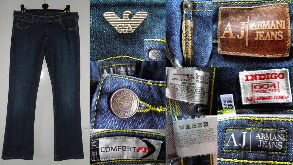finest selection d2b32 6ba14 2000's ARMANI JEANS Blue Indigo 004 Series Comfort Fit Low ...