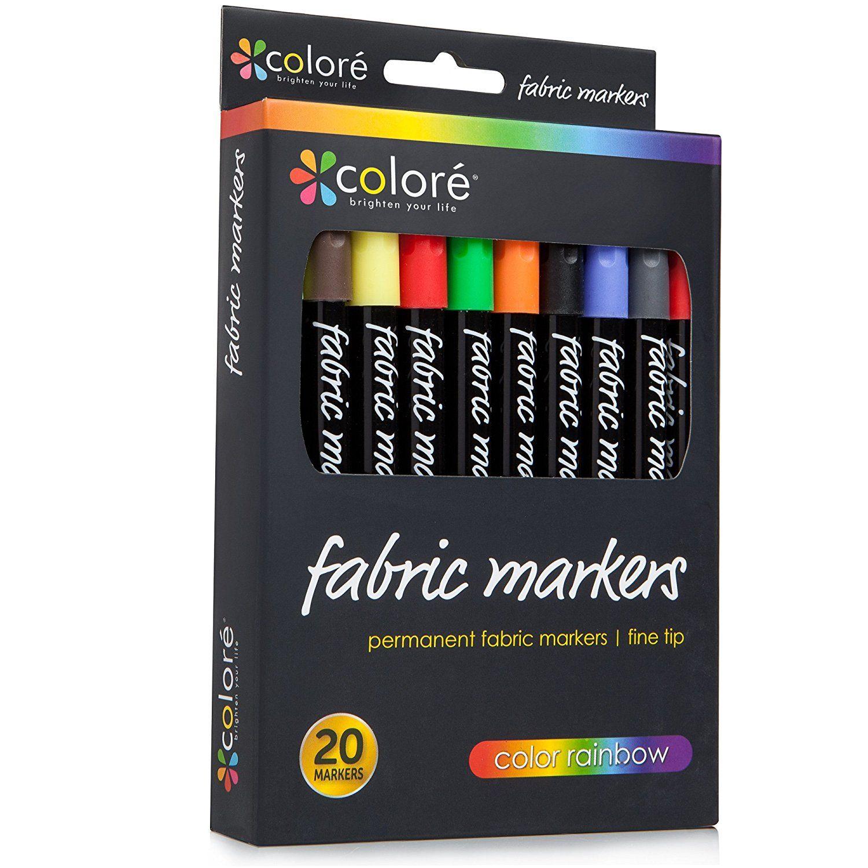 Colore premium fabric markers 20 rich