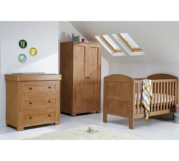 Buy Mamas Papas Harrow 3 Piece Nursery Furniture Set Dark Oak At