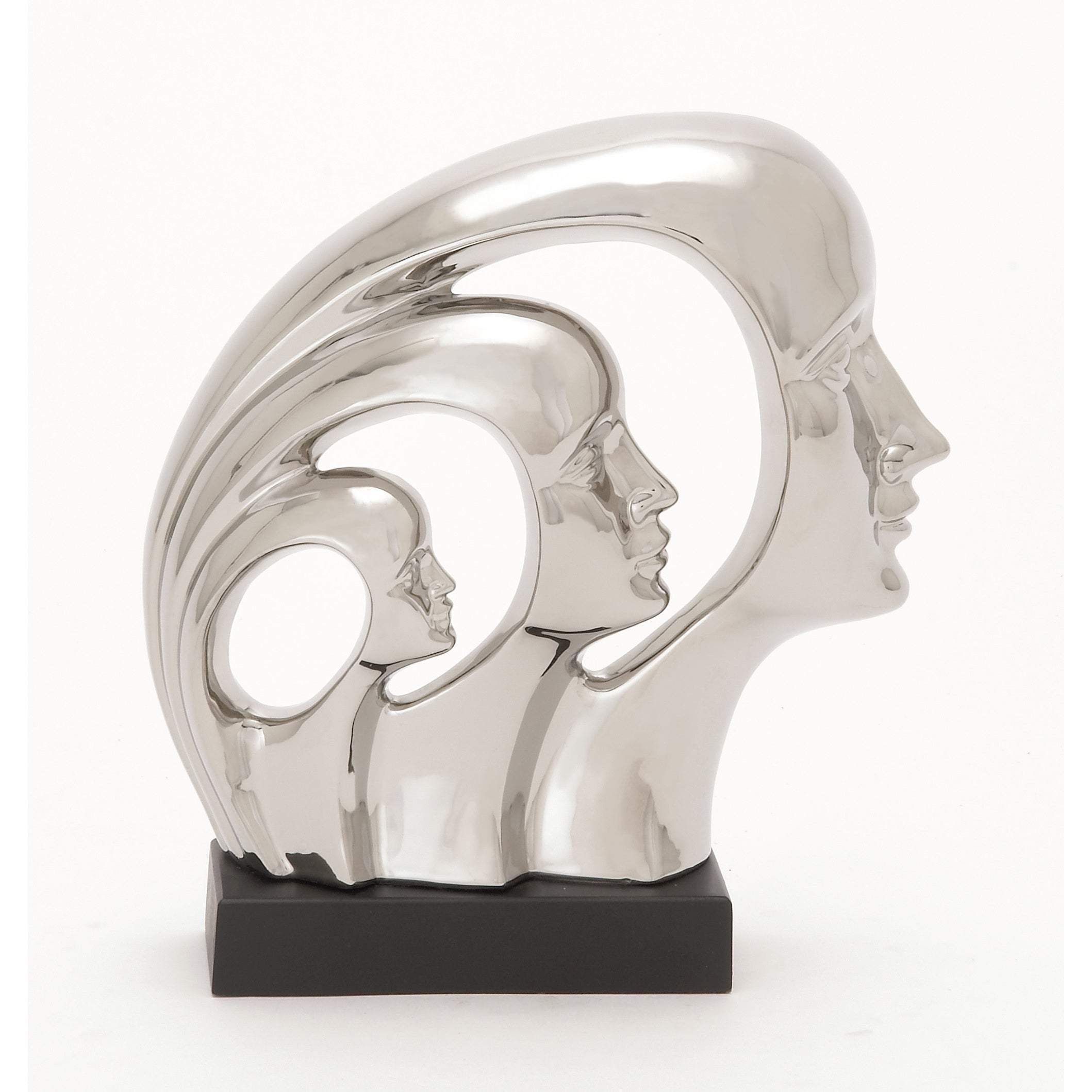 Photo of The Curated Nomad Fermato Ceramic Wood Sculpture – silver