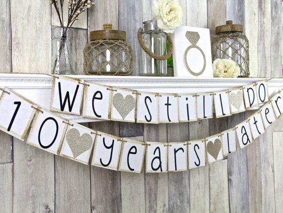 Wedding anniversary banner th anniversary party decorations