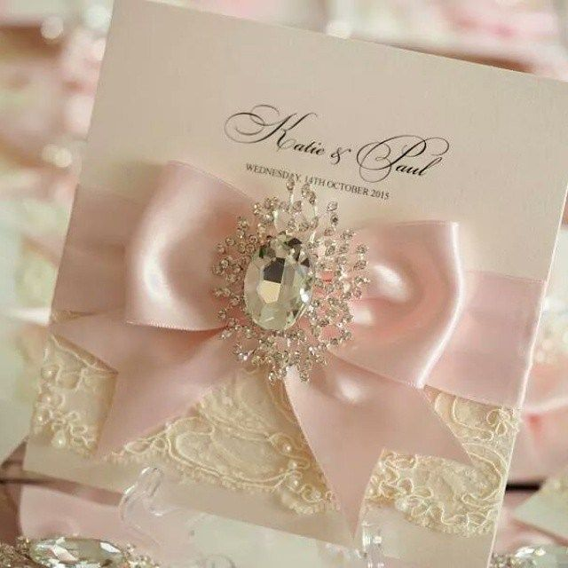 Lace And Diamond Wedding Invitations
