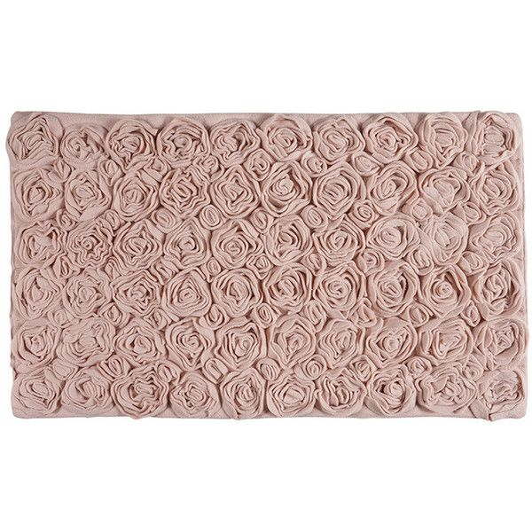 aquanova rose bath mat blush 60x100cm featuring polyvore home