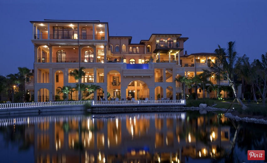 Incredible 4 Story Tuscan Inspired Waterfront Mansion In Largo Fl Mansions Tuscan Inspired Mansions Luxury