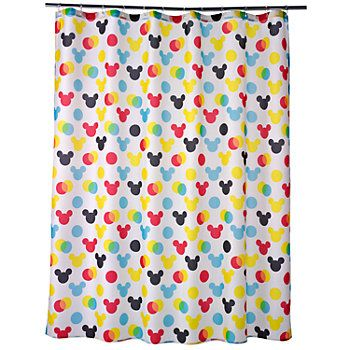 Disney S Mickey Mouse Polka Dot Fabric Shower Curtain By Jumping Beans Fabric Shower Curtains Disney Shower