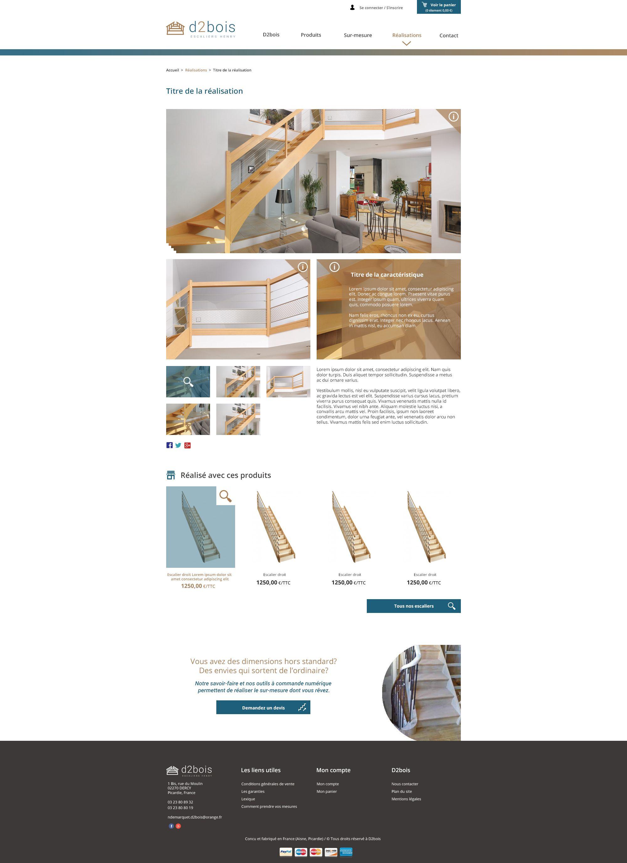 c62516c4585 Création du site internet de l entreprise D2Bois