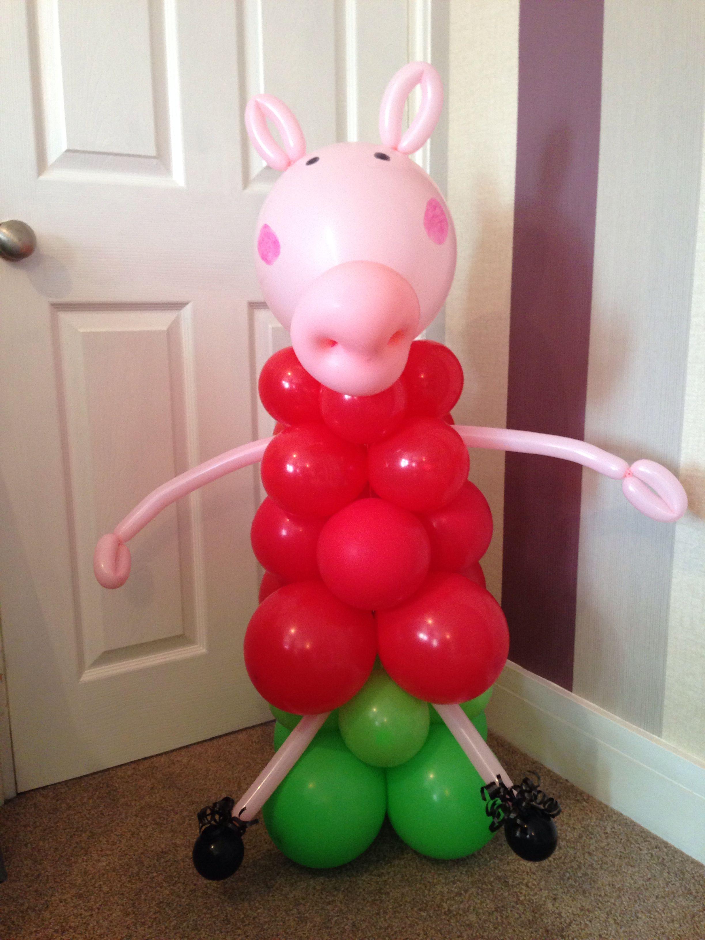 Peppa pig balloon display
