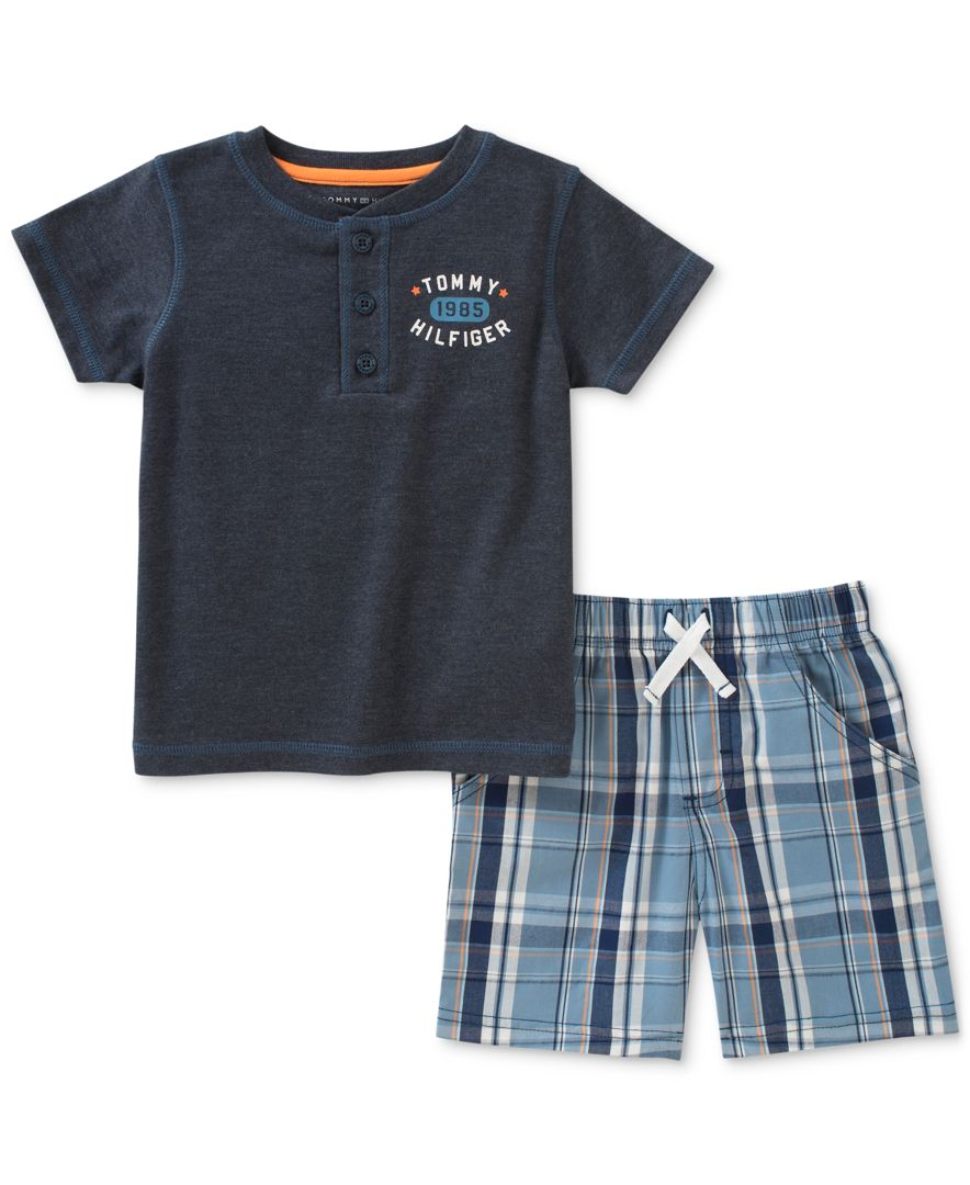 Tommy Hilfiger Baby Boys 2 Pieces Short Set